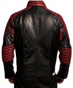 Smallville Black And Maroon Superman Biker Leather Jacket