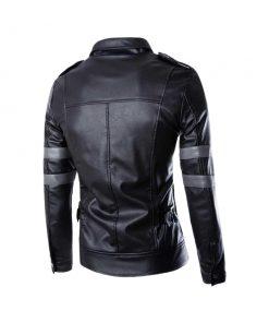 Resident Evil 6 Leon Kennedy Black Leather Jacket