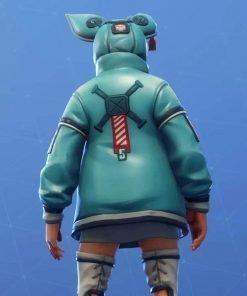 Animal Bunny Fortnite Video Game Flapjackie Leather Jacket