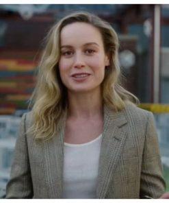 Captain Marvel Avengers Campus Brie Larson Mid-Length Coat
