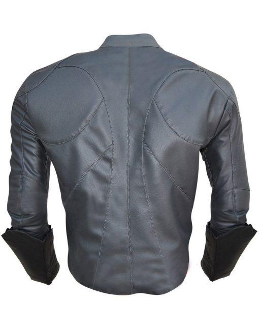Bruce Wayne Batman Arkham Knight Grey Leather Jacket
