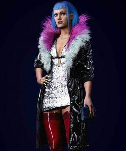 Cyberpunk 2077 Evelyn Parker Black Leather Coat