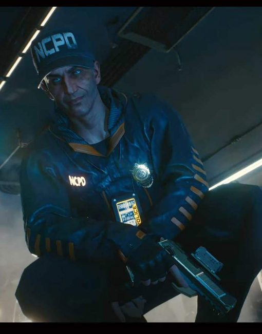 Video Game Cyberpunk 2077 Stints Hooded Black Leather Jacket