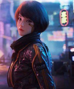 Cyberpunk 2077 Syn Leather Jacket