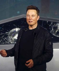 Tesla Model S Plaid Elon Musk Leather Jacket
