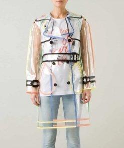 Lily Collins Emily In Paris Transparent Pvc Coat