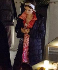 Emily Cooper Tv Series Emily In Paris S02 Long Black Puffer Coat