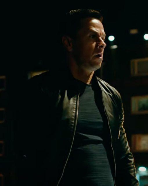 Evan Michaels Infinite Mark Wahlberg Black Leather Jacket