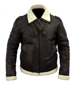 Fallout 4 Armor Bomber Brown Fur Lined Leather Jacket
