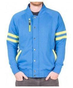 Video Game Fallout 4 Vault 111 Blue Wool Zipper Jacket