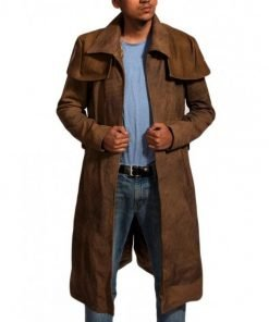 Veteran Ranger Fallout NCR Brown Distressed Suede Leather A7 Coat
