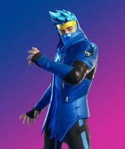 Video Game Fortnite Ninja Blue Leather Jacket