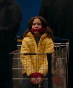 Chloe Coleman Gunpowder Milkshake 2021 Yellow Puffer Jacket