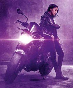 Leïla Bekhti How I Became a Super Hero Callista Biker Leather Jacket