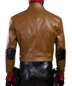 Jason Todd Batman Under the Red Hood Brown Leather Biker Jacket
