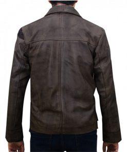 Jason Voorhees Mortal Kombat X Distressed Brown Leather Jacket