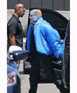Blue Puffer Yeezy Gap Kanye West Jacket