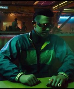 Kirk Sawyer Cyberpunk 2077 Green Bomber Jacket