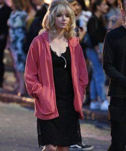 Anya Taylor-Joy Last Night In Soho Pink Hoodie