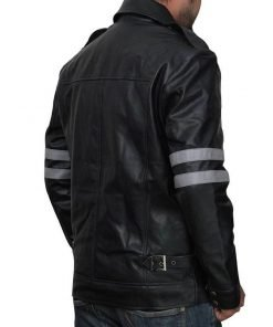 Leon Kennedy Resident Evil 6 Black and White Leather Jacket