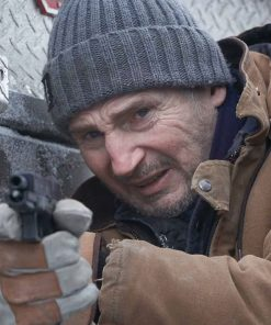 Mike The Ice Road 2021 Liam Neeson Brown Coat
