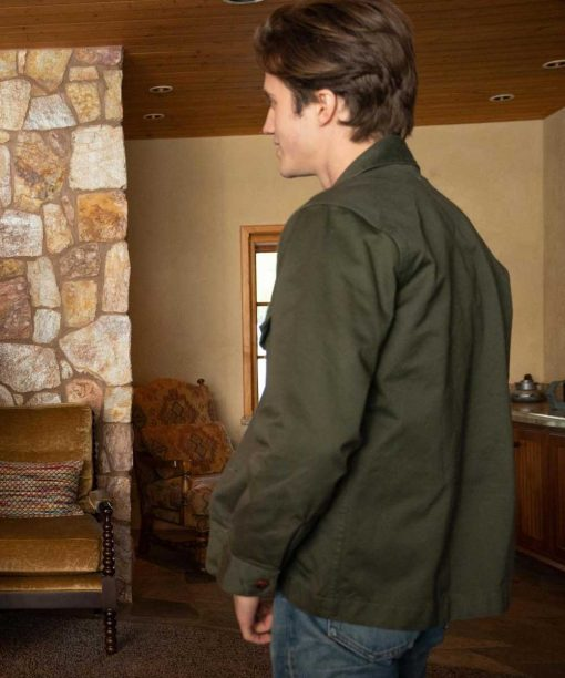 George Sear Love, Victor S02 Benji Campbell Green Cotton Jacket