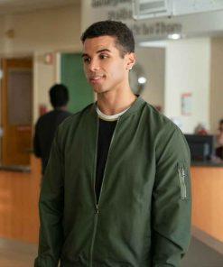 Mason Gooding Love, Victor S02 Green Bomber Jacket