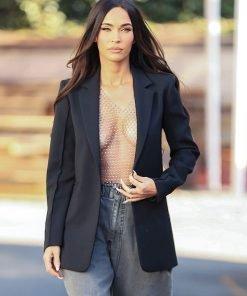 Megan Fox Black LA Photoshoot Blazer
