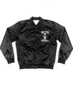 Men's Death Row Records Black Satin Jacket