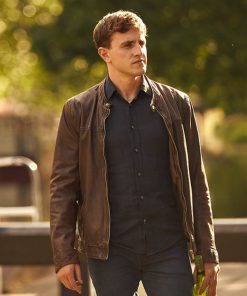Paul Mescal Normal People Brown Leather Jacket