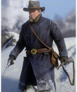 Video Dame Red Dead Redemption II Arthur Morgan Blue Long Coat