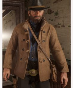 Video Game Red Dead Redemption II Brown Shearling Scout Jacket