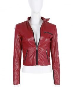 Resident Evil 2 Remake Video Game Claire Redfield Biker Leather Jacket