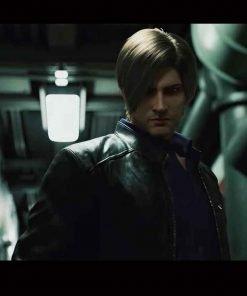 Leon Kennedy Resident Evil: Infinite Darkness Black Leather Jacket