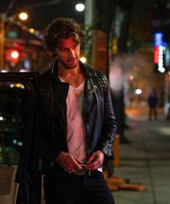 Sex/Life Brad Simon Black Leather Jacket