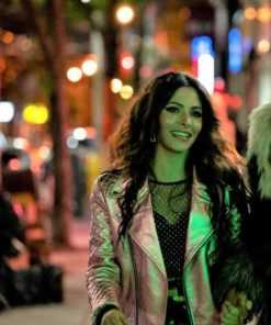 Sarah Shahi TV Series Sex/Life 2021 Pink Leather Jacket