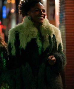 Sasha Snow Sex/Life 2021 Faux Fur Coat