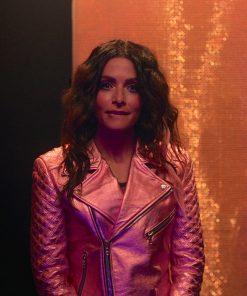 Billie Connelly SexLife 2021 Sarah Shahi Pink Jacket