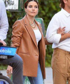 Sophia Bush Oversized Leather Blazer