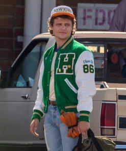 Joseph Quinn Stranger Things S04 Green Letterman Jacket
