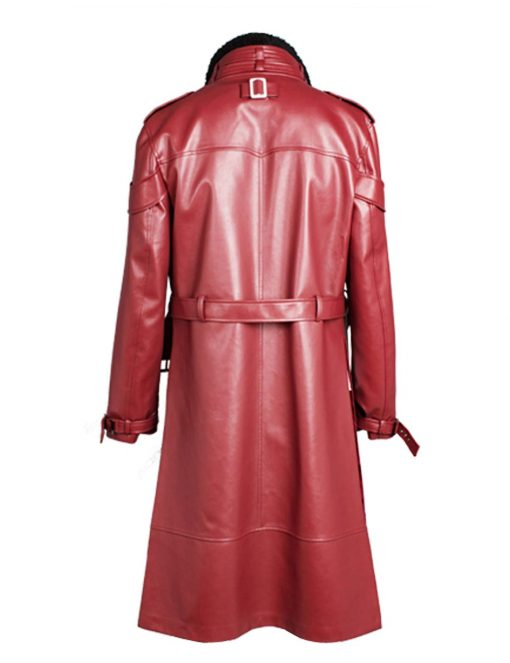 Takanori Hoshino King Of Fighters Red Trench Leather Coat