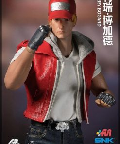 The Kings Of Fighters Terry Bogard Red Hooded Leather Vest