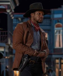 Jonathan Majors The Harder They Fall Love Brown Leather Jacket