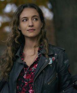 Stella Baker The Republic of Sarah 2021 Black Leather Jacket