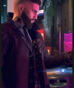 Video Game Watch Dogs 3 Legion Black Trench Leather Coat