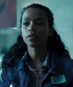 Zoey Davis Escape Room Blue Slim Fit Denim Jacket