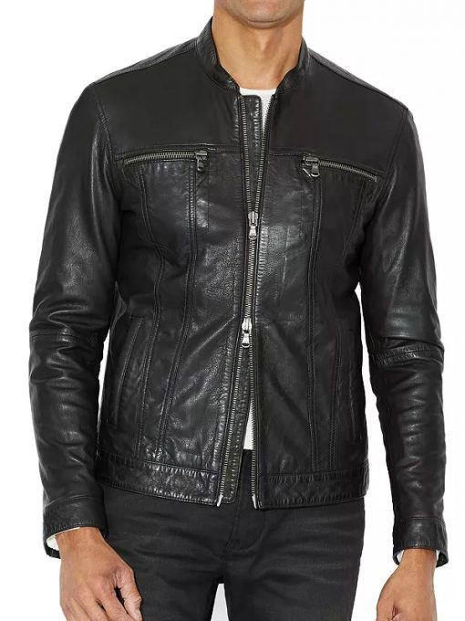 Mike Colter TV Series Evil S02 Black Leather Jacket