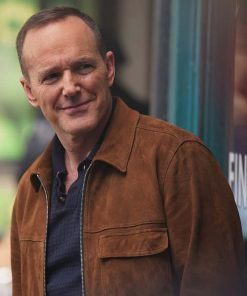 Phil Coulson Agents Of Shield Clark Gregg Brown Leather Jacket