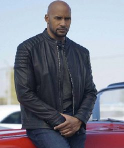Henry Simmons Agents of Shield Series Black Leather Jacket