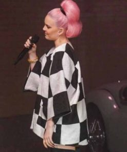 Anne-Marie-Our-Song-Plaid-Jacket